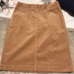 Talbots beige corduroy skirt